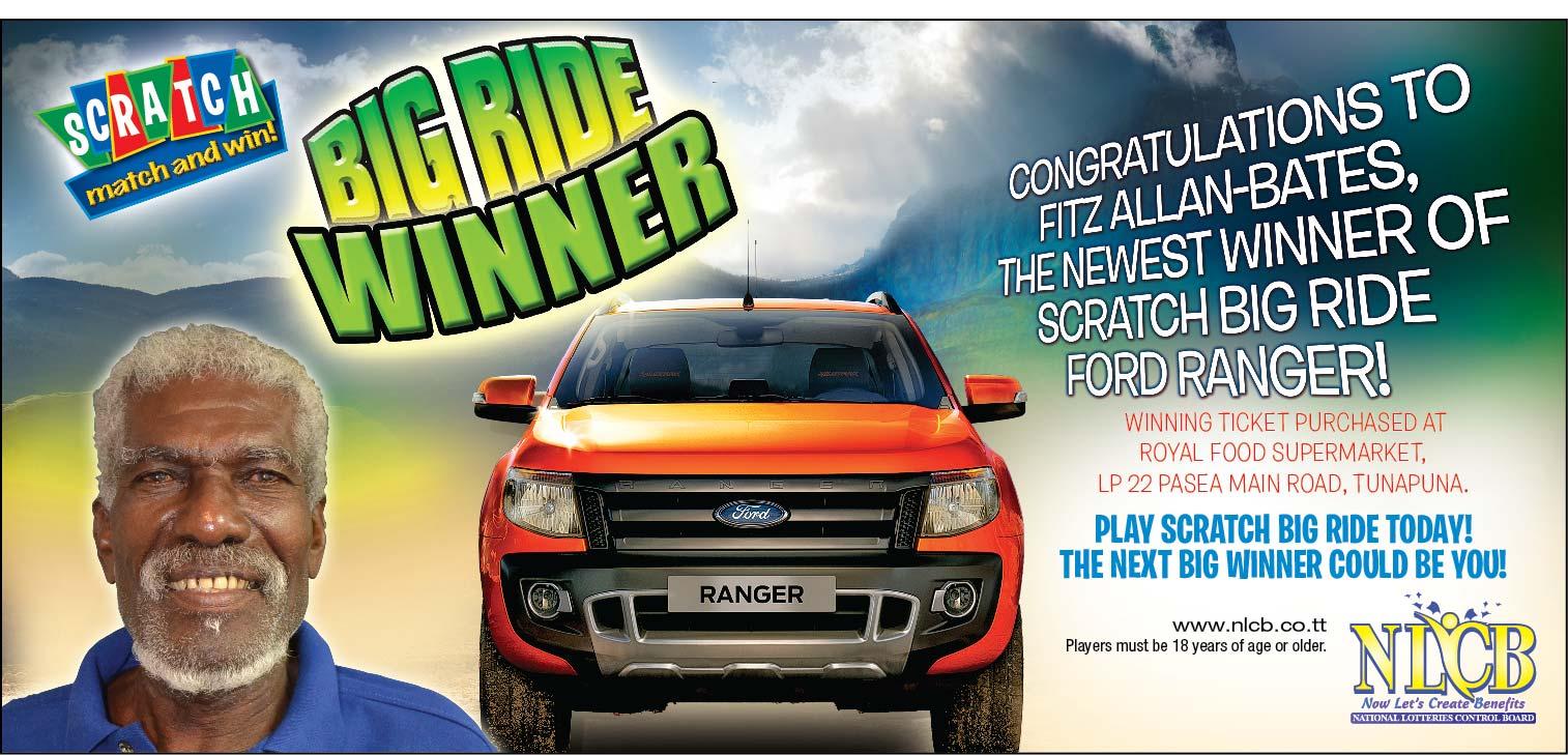 GTE-84378 BigRide Winner Ranger Fitz Allan Bates